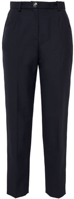 Claudie Pierlot Cropped Crepe Tapered Pants