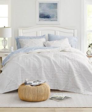 Laura Ashley Maisy White Quilt Set, Full/Queen Bedding