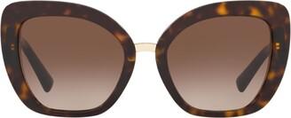Valentino Logo-Detail Oversized Cat Eye Sunglasses