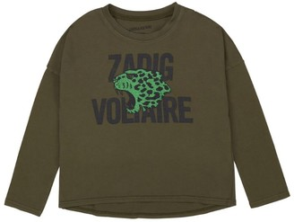 Zadig & Voltaire Long-Sleeved Leopard Logo T-Shirt (6-16 Years)
