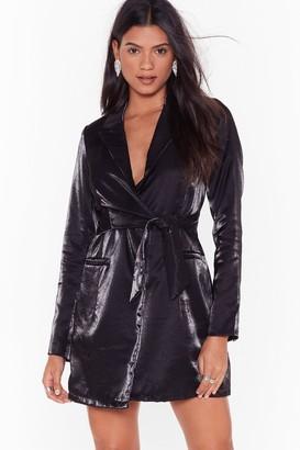 Nasty Gal Womens Doin' Just Shine Belted Blazer Dress - Black - 8