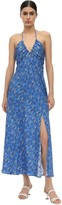 Rixo Caroline Lurex Silk Fil Coupe Midi Dress