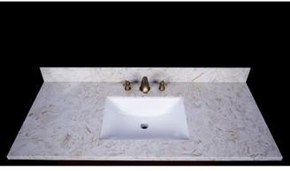 "Cortona Engineered Marble 49"" Single Bathroom Vanity Top Renaissance Vanity"