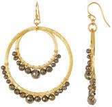 Chan Luu Pyrite Beaded Double Circle Earrings