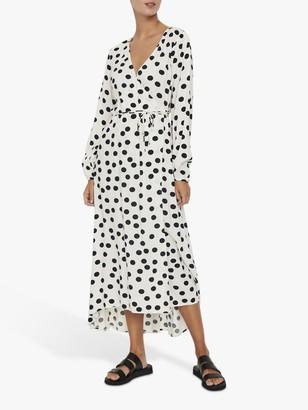 Vero Moda AWARE BY Spot Wrap Dress, Navy Blazer/Multi