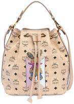MCM Small Drawstring Faux Leather Bucket Bag