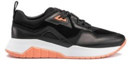 HUGO BOSS Running-style trainers in nappa leather with mesh details