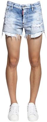 DSQUARED2 28cm Sexy 70s Rainbow Denim Shorts