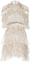 Zimmermann Tiered Printed Silk-Chiffon Mini Dress