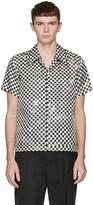 Marc Jacobs Black Check Silk Pyjama Shirt
