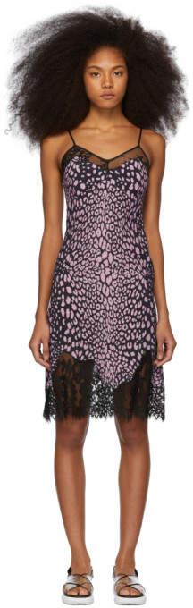 McQ Pink Animal Print Slip Dress