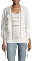 Derek Lam Silk Embroidered Lace Blouse