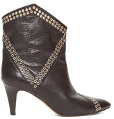 Isabel Marant Demka Metal-eyelet Leather Boots - Womens - Black