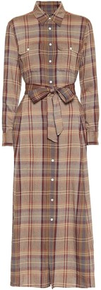 Polo Ralph Lauren Checked flannel midi dress