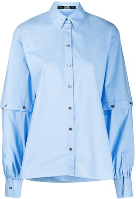 Karl Lagerfeld Paris Cut-Out Sleeve Shirt