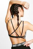 boohoo Ally Fit Strappy Back Sports Bra