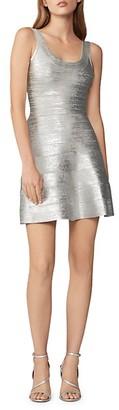 Herve Leger Foiled Fit Flare Dress
