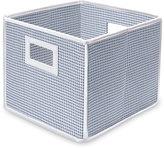 Badger Basket Blue Gingham Folding Storage Cubes (Pack of 3)