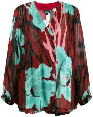 Just Cavalli loose fit floral print blouse