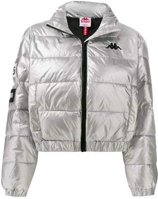 Kappa metallic puffer jacket