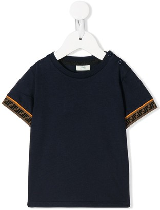 Fendi Kids Double F trim T-shirt