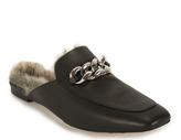 Jeffrey Campbell Ravis - Fur-lined Buckle Mule