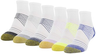 Gold Toe Women's Half Cushion Sport Quarter Socks with Mesh
