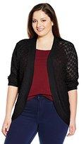 Napa Valley Women's Plus-Size Pointelle Sweater Shrug