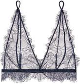 Anine Bing Stretch-lace Soft-cup Bra - Storm blue