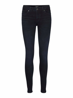 Vero Moda Women's VMELLA MR Slim Jeans CLR Color Denim Trousers