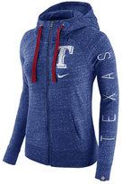 Nike Women's Texas Rangers Gym Vintage Full-Zip Hooded Sweatshirt