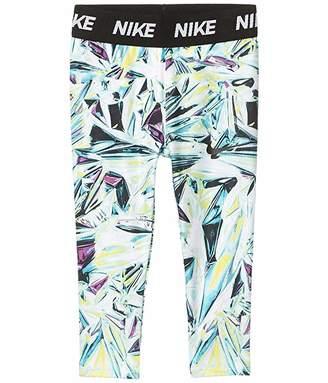 Nike Dri-FITtm Printed Leggings (Toddler) (Teal Nebula) Girl's Casual Pants
