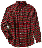 Daniel Cremieux Big & Tall Long-Sleeve Plaid Oxford Woven Shirt