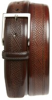 Magnanni Men's 'Wellington' Textured Leather Belt
