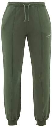 Acne Studios Felodie Logo Embroidered Cotton Track Pants - Womens - Khaki