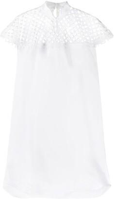Sacai Mesh Panel Midi Dress
