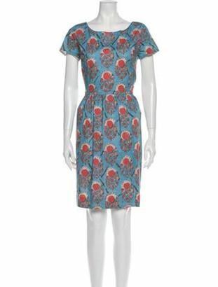 Oscar de la Renta 2012 Mini Dress Blue