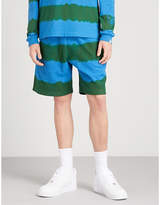 Billionaire Boys Club Striped relaxed-fit cotton-terrycloth shorts