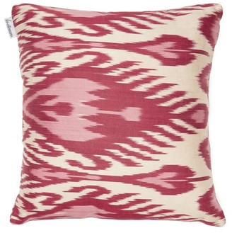 Les Ottomans - Silk-ikat Cushion - Pink Multi