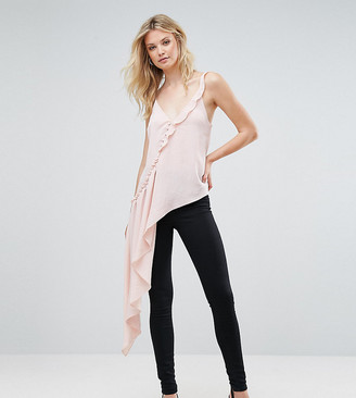 Asos TALL Asymmetric Ruffle Cami with Button Detail