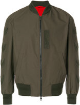 Neil Barrett chevron bomber jacket - men - Cotton/Polyamide/Spandex/Elastane/Viscose - S