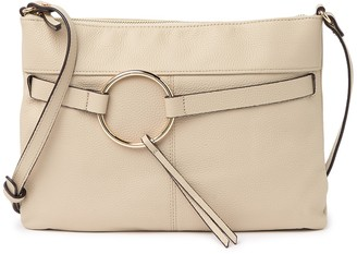 Melrose and Market Pebbled Leather Tassel Ring Crossbody Bag