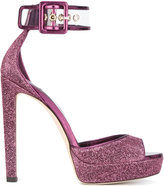 Jimmy Choo glitter embellished sandals