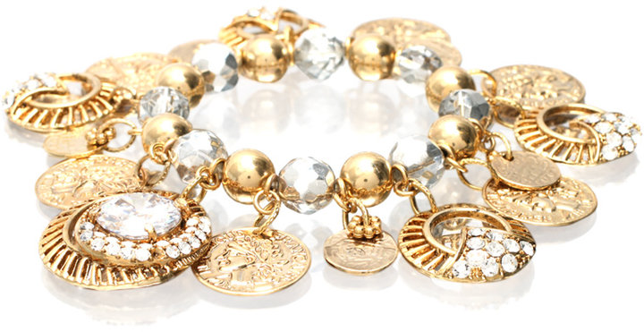 Mikey Multi Coin And Disc Bracelet