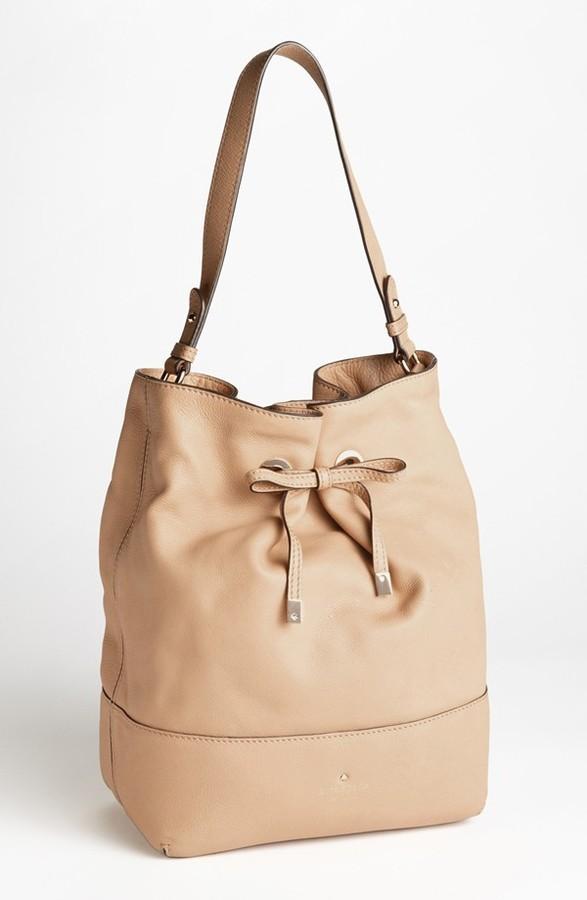Kate Spade 'west Valley - Valentine' Leather Bucket Bag
