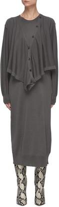 Lemaire Draped cardigan dress
