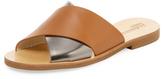 Jil Sander Navy Crossover Flat Sandal