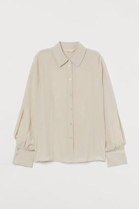 H&M Silk Blouse - Beige