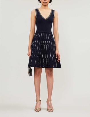 Sandro Jasmine stretch-ponte mini dress