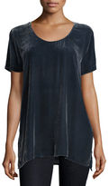 Johnny Was Taylor Mixed Velvet Tee, Plus Size